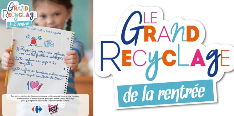 Rentrée : opération recyclage de cahiers usagers avec Carrefour