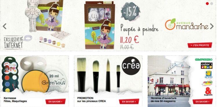 Rougier&Plé d'un clic ! Le pro des métiers d'art et loisirs créatifs ouvre sa web-boutique.