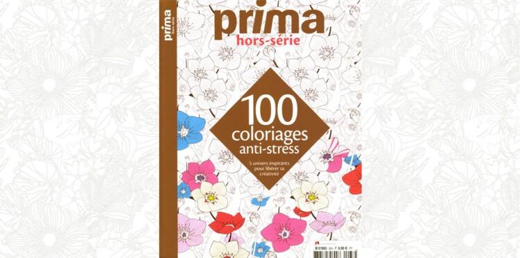 Sortie du Prima hors-série 100 coloriages anti-stress