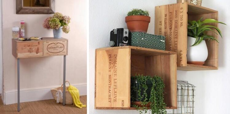 10 id es pour d tourner des caisses de vins rep r es sur pinterest femme actuelle le mag. Black Bedroom Furniture Sets. Home Design Ideas