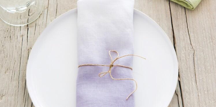 3 créas en mode pastel : des serviettes tie & dye