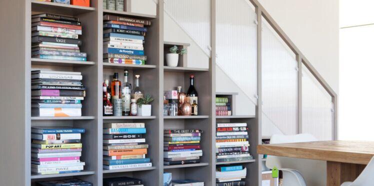 Belles idées de rangement sous un escalier d'intérieur