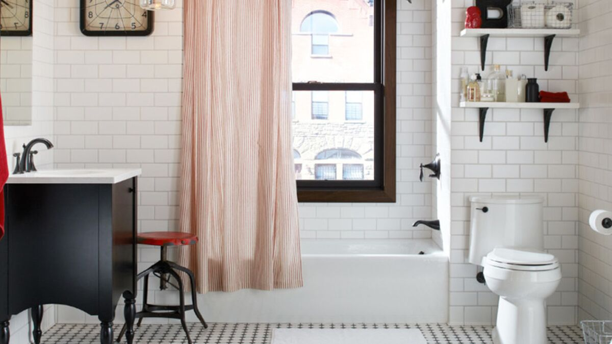 Photo De Salle De Bain Noir Et Blanc carrelage de salle de bain : le chic du noir et blanc