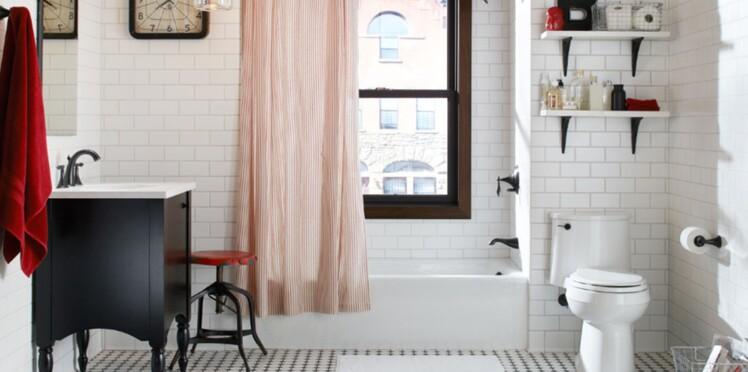 Carrelage de salle de bain : le chic du noir et blanc : Femme ...