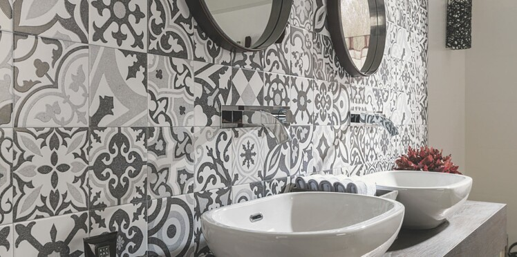 Carrelage : les nouveautés pour la salle de bains : Femme Actuelle ...