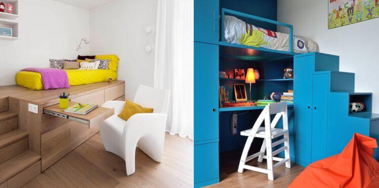 chambre d enfant 12 astuces pour optimiser les petits espaces femme actuelle le mag. Black Bedroom Furniture Sets. Home Design Ideas