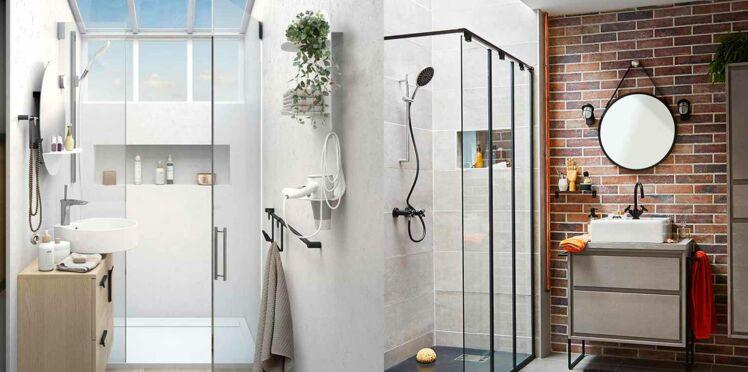 comment am nager une douche dans une petite salle de bains femme actuelle le mag. Black Bedroom Furniture Sets. Home Design Ideas