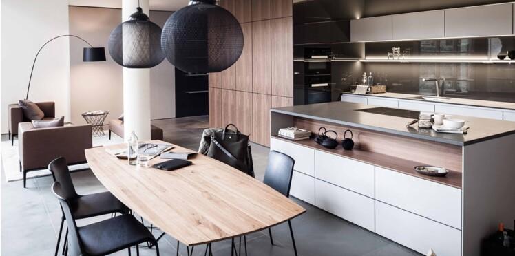 Tout pour une cuisine - salle à manger contemporaine