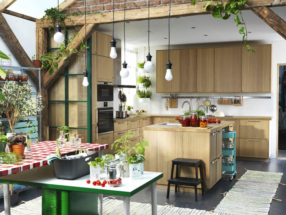 Porte Cuisine Sur Mesure Ikea cuisines ikea : nos idées préférées : femme actuelle le mag