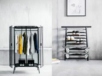 une dco de chambre dado style en noir et blanc