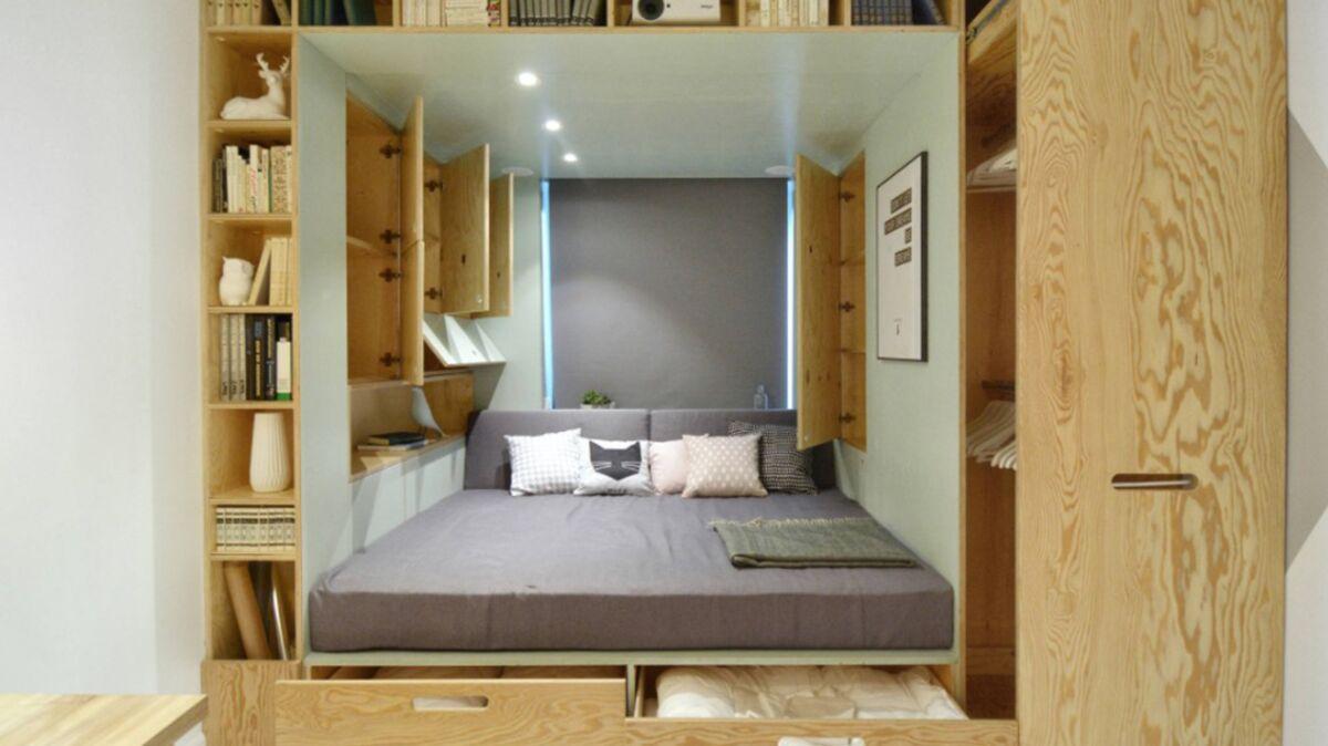 Déco de chambre : 20 idées de lits avec rangements intégrés