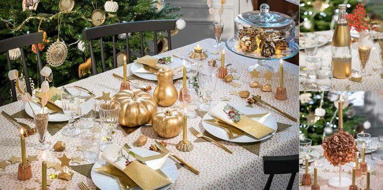 Déco de table de Noël facile et pas chère : 8 idées en or