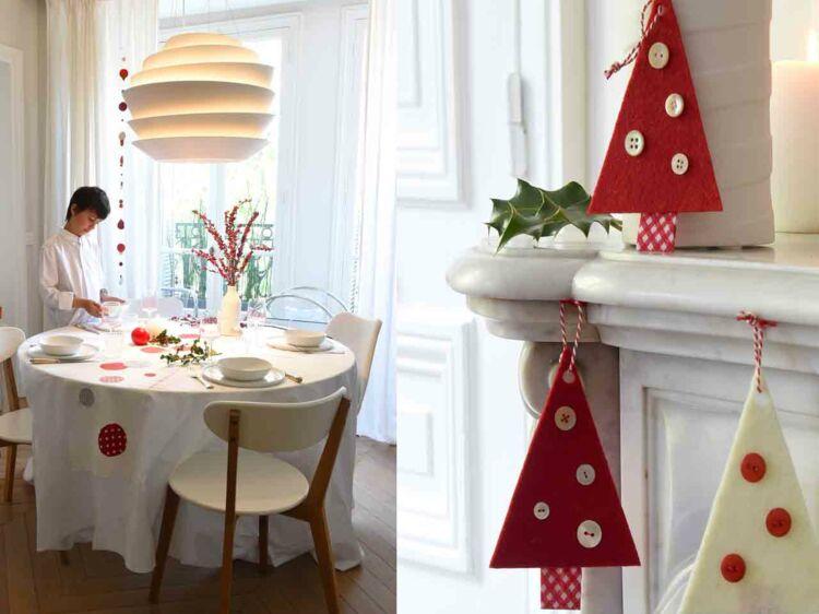 ma d co de no l scandinave en rouge et blanc femme. Black Bedroom Furniture Sets. Home Design Ideas