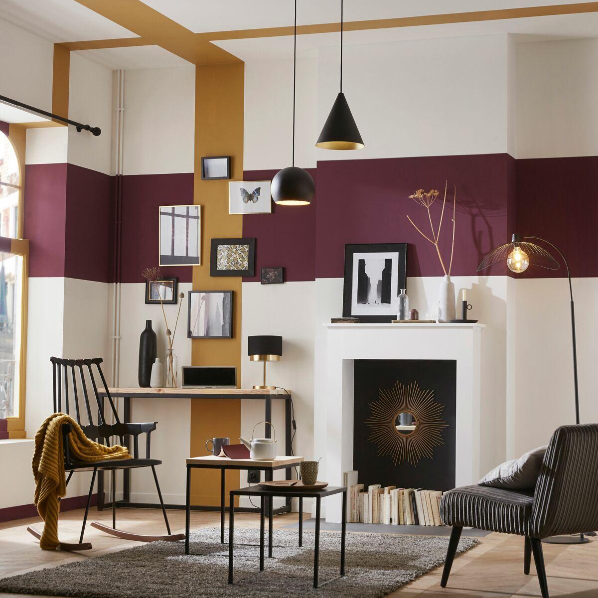 Quel Mur Peindre En Couleur Salon décoration de salon : 5 astuces peinture pour réchauffer l