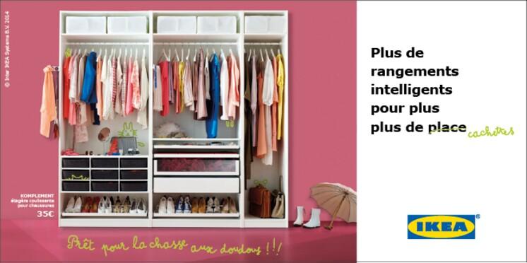 IKEA - Jusqu'au 24 juin, profitez de l'offre sur les rangements modulables PAX/KOMPLEMENT. Publi-communiqué