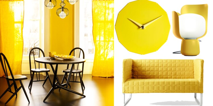 Le jaune, la couleur déco de la maison