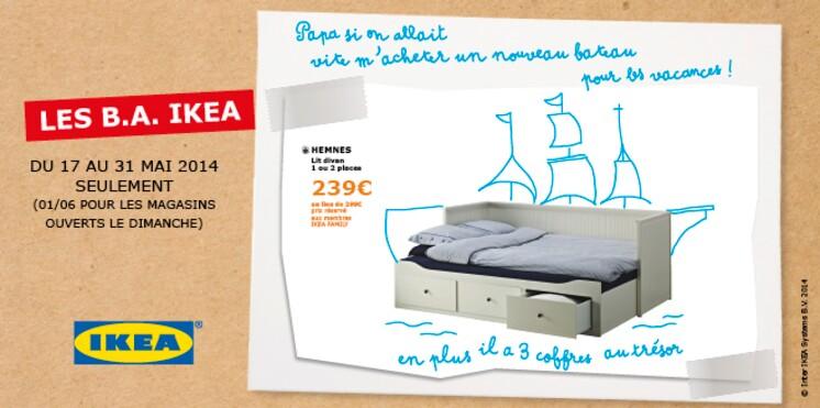 IKEA - Les B.A. IKEA - Jusqu'au 31 mai, profitez des bonnes affaires IKEA - Publi-communiqué