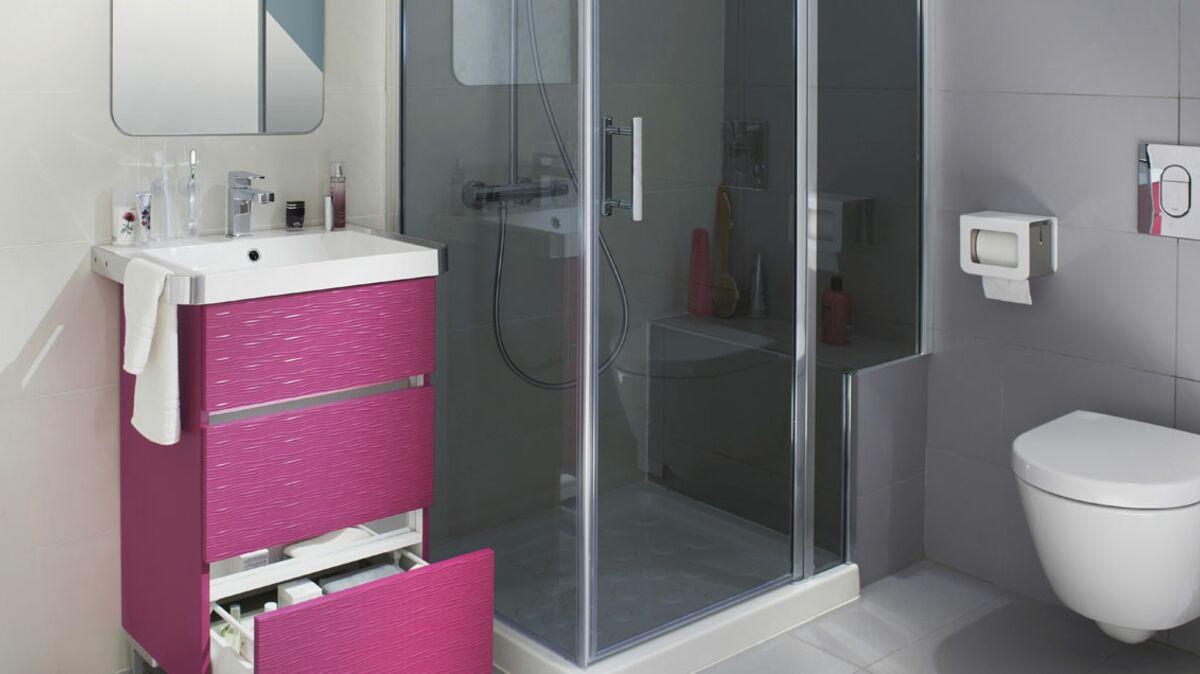 Salle De Bain Et Wc Dans Espace Reduit j'ai une mini salle de bains, comment l'aménager ? : femme