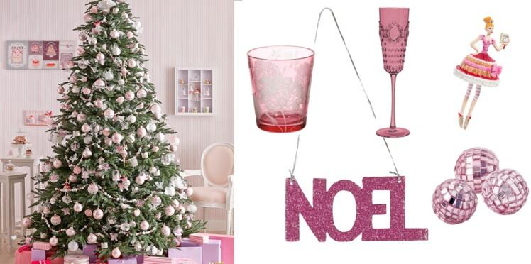 Noël girly : une déco toute rose !