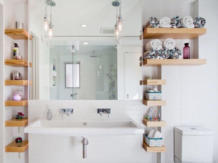 Petite Salle De Bain Astuces Gains De Place Pour Tout Ranger - Astuce deco salle de bain