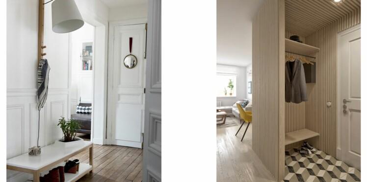 rangement 15 astuces pour gagner de la place dans une petite entr e femme actuelle le mag. Black Bedroom Furniture Sets. Home Design Ideas