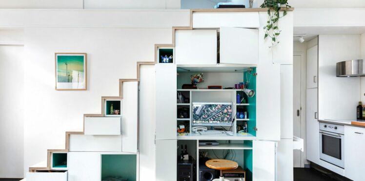 Rangement sous l escalier 10 id es fut es pour gagner de la place femme actuelle le mag - Fabriquer un meuble sous escalier ...