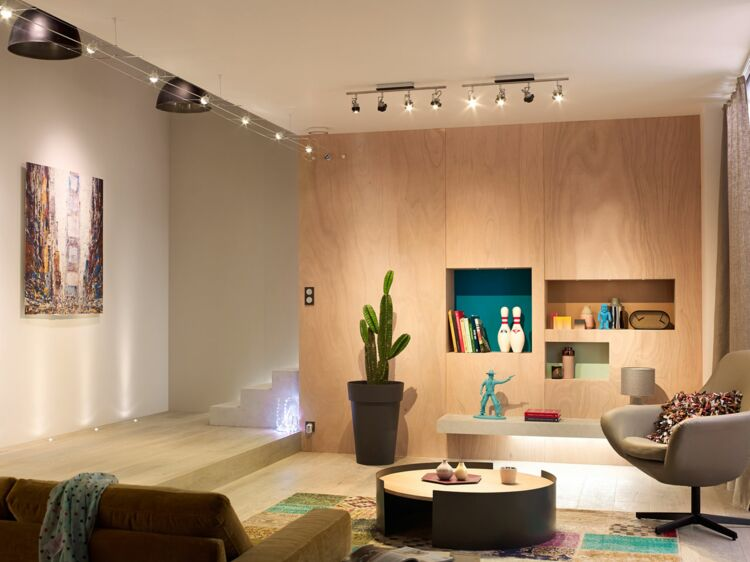 Eclairage plafond bureau maison bien éclairer sa maison leroy