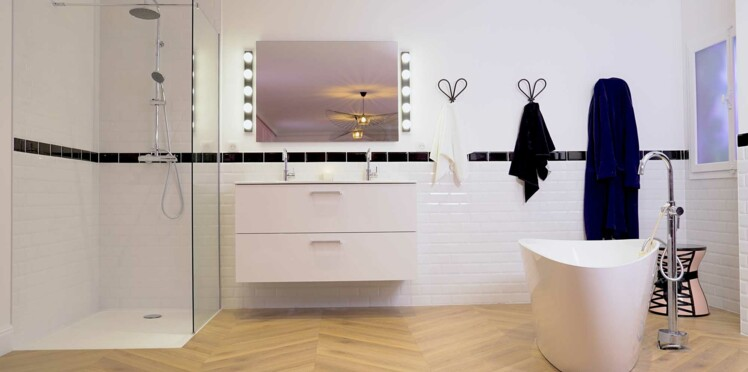 une salle de bain moderne femme actuelle le mag. Black Bedroom Furniture Sets. Home Design Ideas