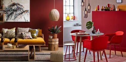 Salon Rouge : 5 Idées De Décoration Et Nos Accessoires Coup De Coeur