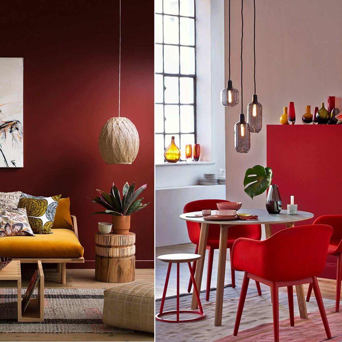 Mur De Rangement Salon salon rouge : 5 idées de décoration et nos accessoires coup