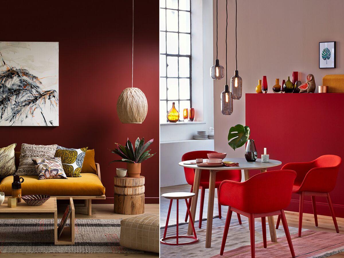 Salon rouge : 20 idées de décoration et nos accessoires coup de
