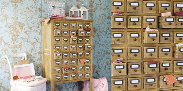 Tendance et vintage : le meuble de mercerie