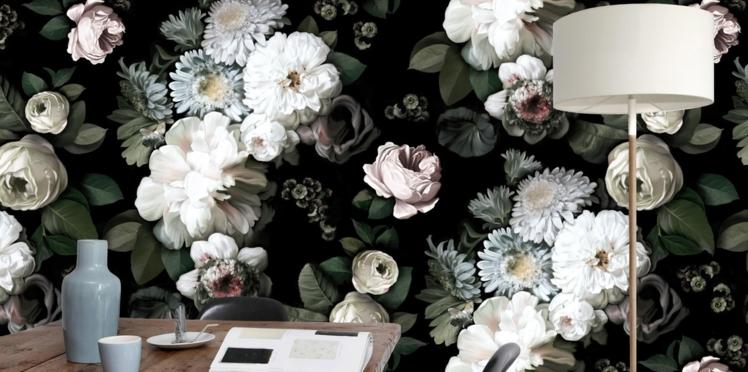 Tendance, les papiers peints à fleurs