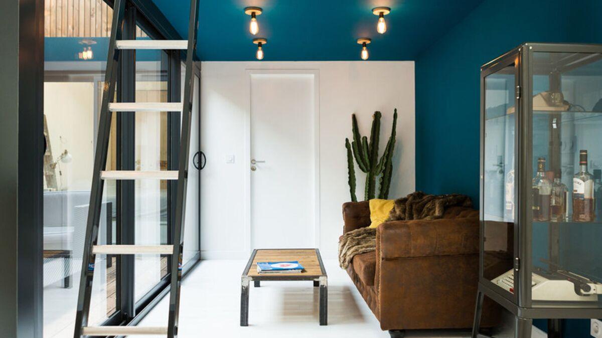 Couleur Tendance Pour Interieur Maison tendance : les plafonds de couleur structurent la déco