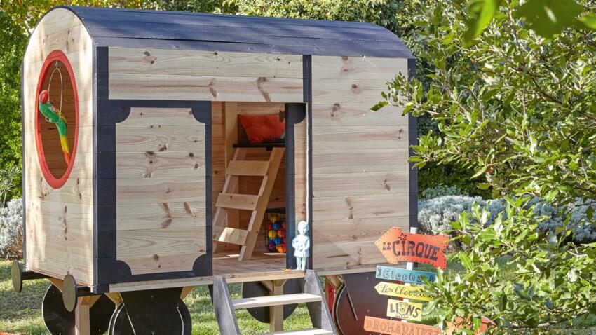 Une cabane de jardin pour les enfants