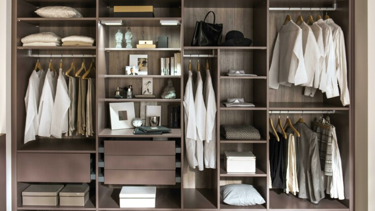 vid o rangements de dressing toutes les astuces femme. Black Bedroom Furniture Sets. Home Design Ideas