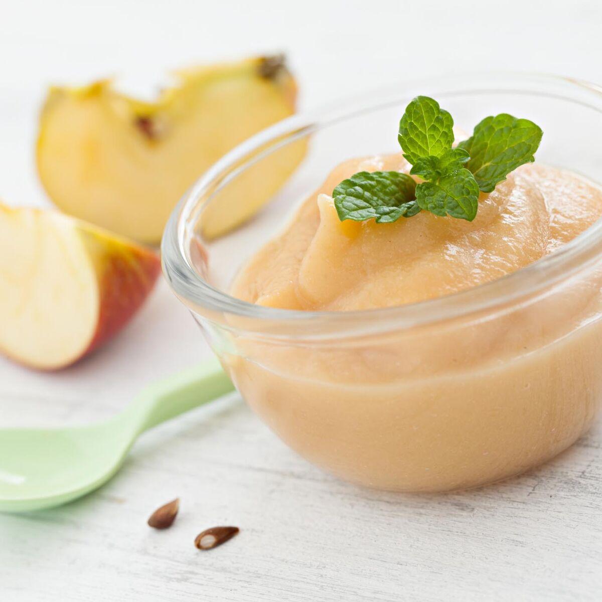 Initier Bébé Au Pot 5 recettes de compotes pour bébé : femme actuelle le mag