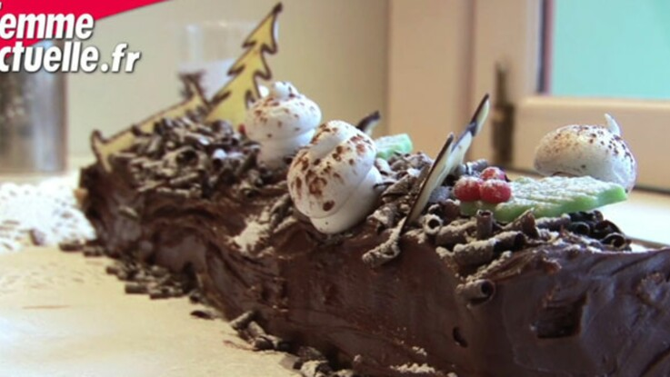 La recette de la bûche de Noël au chocolat de Mickey