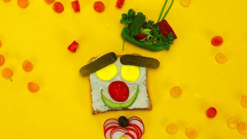 """La recette du toast """"Monsieur clown"""" (vidéo)"""