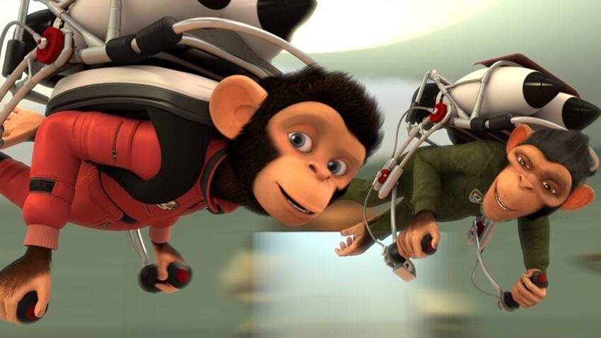 Jouez avec les chimpanzés de l'espace