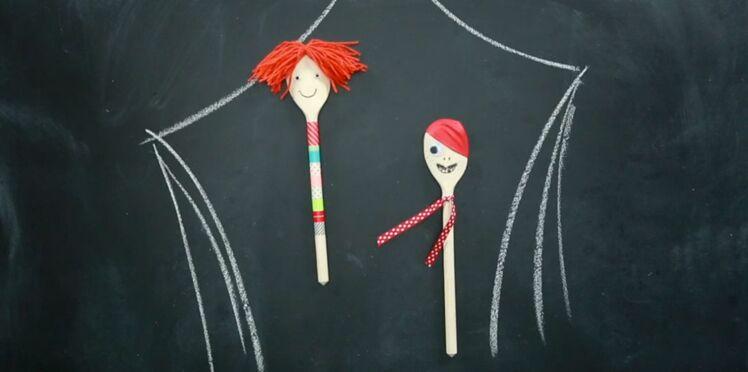 Créer des marionnettes avec des cuillères en bois (vidéo)