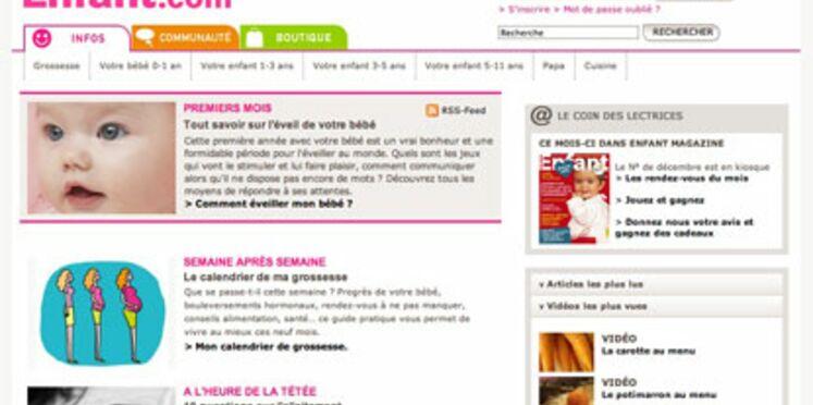 Un site pour les mamans : enfant.com