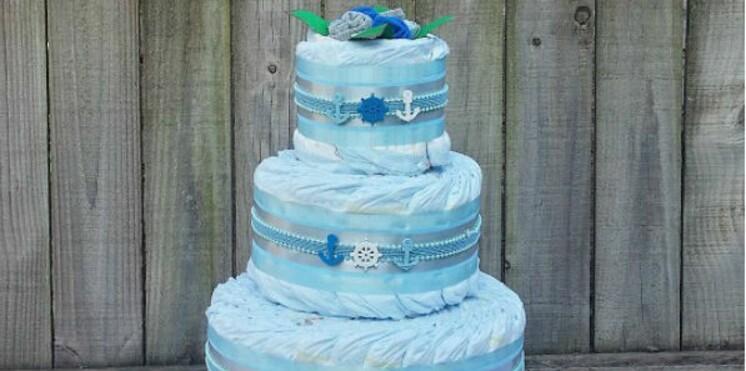 Diaper Cake : le gâteau en couches-culottes débarque en France