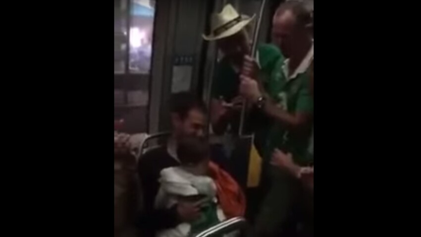 Euro 2016 : des supporters irlandais chantent une berceuse à un bébé