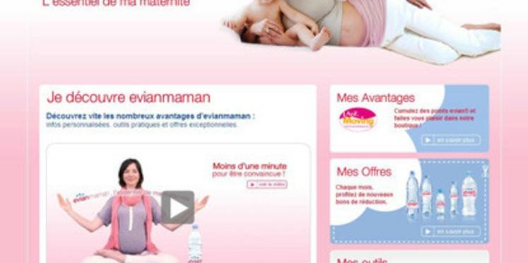 Evian s'adresse aux futures mamans