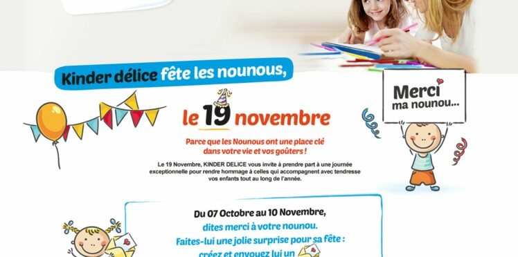 Le 19 novembre, on fête les nounous !