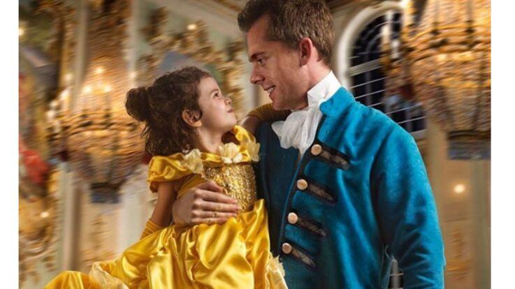 PHOTOS - Il organise un shooting 'La belle et la bête' pour sa fille