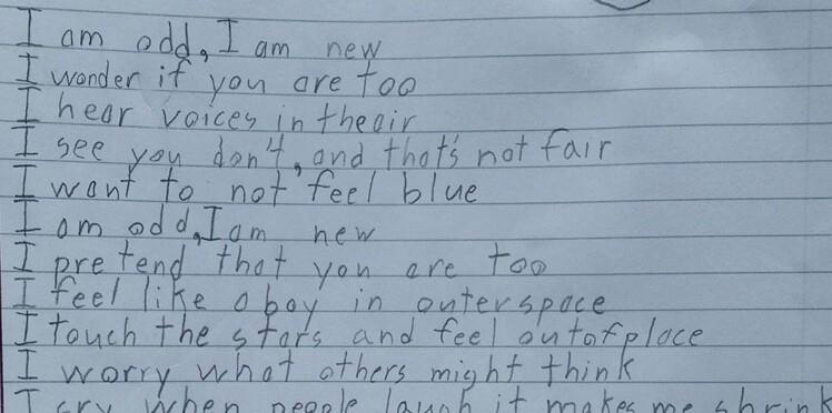Syndrome d'Asperger : le poème d'un petit garçon émeut la toile