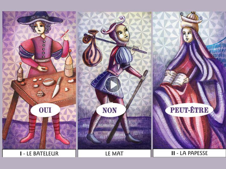 388de7c916f807 Tarot de Marseille instantané   le tirage oui non   Femme Actuelle Le MAG