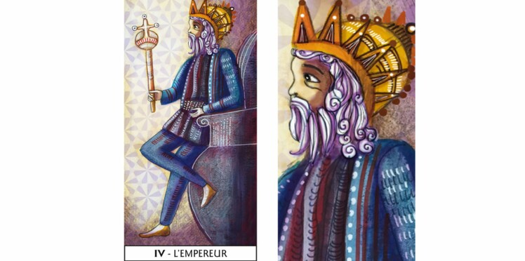 Tarot de Marseille : l'Empereur
